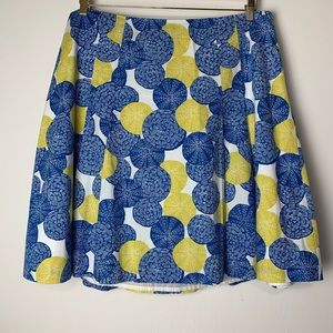 Boden Yellow & Blue Pleated Circle Skirt (16)
